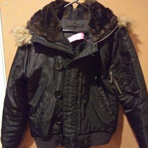 Juicy Couture Puffer Winter Jacket Medium w/ Hood